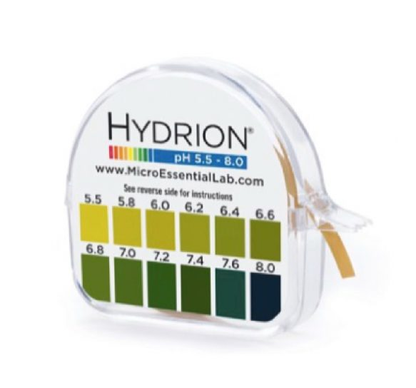 Hydrion pH paper strips